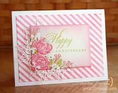 After-Hours Ink & Flowers: The Card Concept One Year Anniversary Celebration!   use Spellbinders Venetian Motifs to give appearance of lace edging peeking out from behind central stamped image
