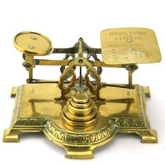 English Brass Postal Letter Scales, Circa 1880.