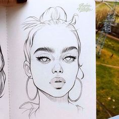 Fabulous Drawing On Creativity Ideas. Captivating Drawing On Creativity Ideas. Pencil Art Drawings, Art Drawings Sketches, Realistic Drawings, Cool Drawings, Drawing Faces, Girl Face Drawing, Drawing Portraits, Person Drawing, Art Faces