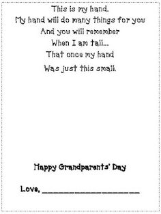 Grandparents Day!!! I will have to remember this for next year since it just went by!!