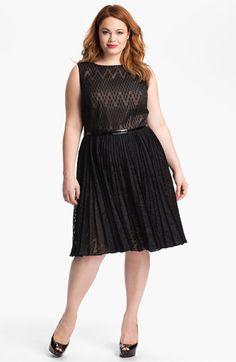 Adrianna Papell Burnout Sleeveless Dress (Plus)   Nordstrom