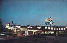 Algemac's Coffee Shop, a fine example of Googie architecture built in 1937 in Glendale. #googie