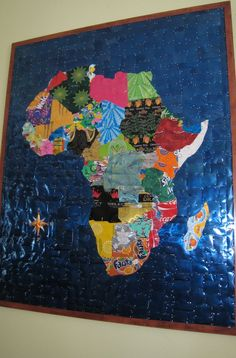 Maps of Africa: Map of Africa to Scale Made of Recycled Tin Cans