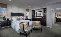 The master suite is the perfect retreat from a long day with its spa-inspired master bath. - Residence One at Autumn Crossing in Rocklin, CA