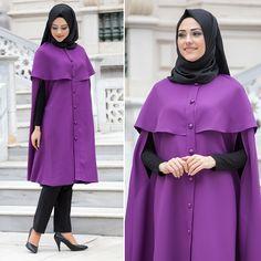 NEVA STYLE - PANCHO - 51390MOR #hijab #naylavip #hijabi #hijabfashion #hijabstyle #hijabpress #muslimabaya #islamiccoat #scarf #fashion #turkishdress #clothing #eveningdresses #dailydresses #tunic #vest #skirt #hijabtrends