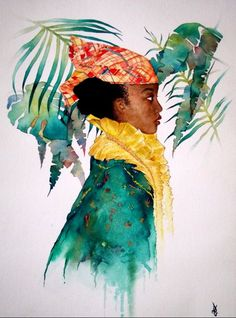 Featuring one of our early participants, #frenchartist Gregory Dezir and his work in #watercolor! The little girl in traditional costume Guyanese Creole. VISIT http://snac-expo.com/…/la-petite-porteuse-dhistoire-fra160…/ to read more about his amazing work! #paris #france #artiste #artistesfrancais #artcall #heritage