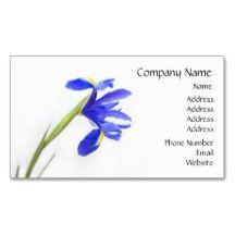 Purple Iris Flower Business Card | Zazzle