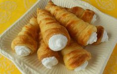 Tubules with protein cream