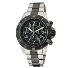 Invicta Men's 13618 Specialty Chronograph Black Dial Two Tone Stainless Steel Watch Invicta. Save 83 Off!. $99.00. Swiss quartz movement. Water-resistant to 100 M (330 feet). Chronograph functions with 60 second, 60 minute and date subdials; date window at 4:00. Flame-fusion crystal; stainless steel case and bracelet with gunmetal ion-plated stainless steel center links. Black dial with silver tone and white hands, white hour markers and silver tone Arabic numerals; luminous; gunmeta...