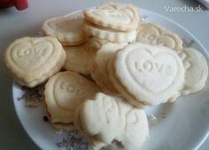 Máslové sušenky Food And Drink, Cookies, Baking, Crack Crackers, Bakken, Cookie Recipes, Bread, Backen, Biscotti