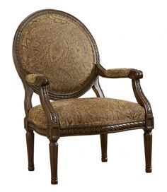 Cambridge Traditional Amber Fabric Accent Chair