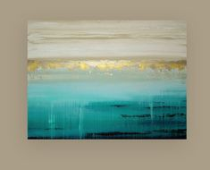 Art, Large Painting, Original Abstract, Acrylic Paintings on Canvas by Ora Birenbaum Art Titled: Into the Abyss 4 Abstract Landscape, Landscape Paintings, Abstract Art, Acrylic Paintings, Acrylic Art, Shabby Chic Painting, Gold Leaf Art, Large Painting, Beach Art