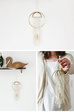 Fiber Wall Art   Click Pic for 36 DIY Wall Art Ideas for Living Room   DIY Wall Decorating Ideas for the Home
