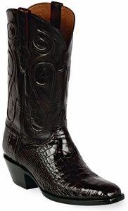 Womens Black Jack Boots Black Cherry Alligator Belly Custom Boots 123
