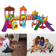Dazzling Toys 135 Pcs Amusement Park Colorful 2 Figures A...