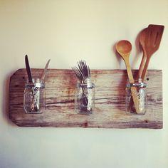 Mason Jar Wall Planter. $49.00, via Etsy.