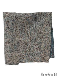 Cameron Wool Paisley      Classic and cozy, it has a lived-in look that adds richness to a space. Wool in Bluestone. fschumacher.com.  #fabrics #textiles