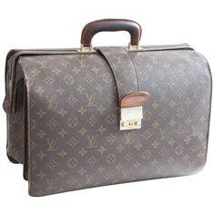 f62c1025f3a Vintage Louis Vuitton Monogram Serviette Fermoir Briefcase Travel Bag 16in   LouisVuitton  TravelBag Vintage Louis
