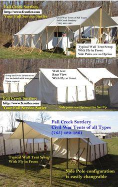 Civil War Tent Fly & Reenactment u0026 Rendezvous Tent - 16u0027x20u0027x5u0027 | Vermontu0027s Barre Army ...