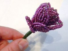 Lovely wedding bouquet ideas from offbeatbride.com, making it look very easy ... (at this point I need very little encouragement to make a French beaded flower bouquet)