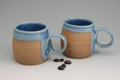 Pair of Handmade Espresso Mug  Pottery Demitasse by SawyerCeramics, $24.00