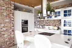 Image result for кирпичная стена на кухне