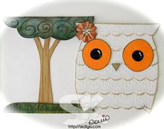 SKdigis by Sonia Kertznus: OWL & TREE - CRICUT WILD CARDS CARTRIDGE - Blast from the past!