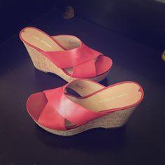 Via Spiga cork wedge Platform slide on wedge sandal - NWOT Via Spiga Shoes Wedges