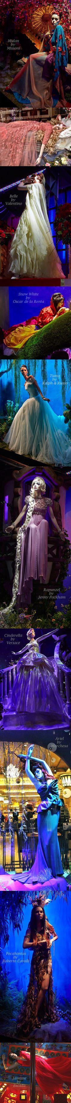 Harrods Designer Disney Princesses Window Displays