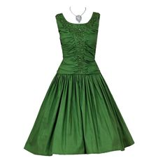Vanda&39 Emerald Green Party Dress  Green party dress Vintage ...