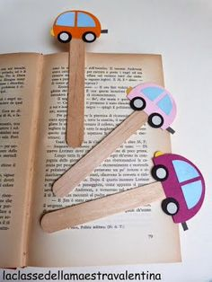 Okulöncesi Sanat ve Fen Etkinlikleri: Daire Şeklinden Araba ve Kitap Ayracı Yapımı