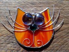 Závěsná vitráž: Kočka Brooch, Image, Jewelry, Jewellery Making, Jewelery, Brooches, Jewlery, Jewels, Jewerly