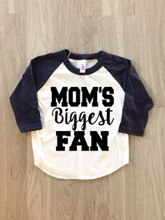 Customizable  Mom's Biggest Fan Raglan by 8thWonderOutfitters