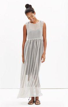 Double-Print Layered Maxi Dress