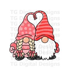 Valentines Watercolor, Valentines Day Drawing, Valentines Day Clipart, Happy Valentines Day, Valentine Shirts, Valentinstag Shirts, Girl Gnome, Valentines Illustration, Clip Art