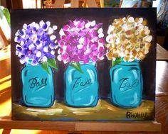 11x14 original acrylic painting  three by AffordableARTbyRonda