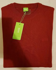 0b04cfd1c BNWT Mens Size L HUGO BOSS Red Maroon Burgundy Jumper Sweater Pullover Top  Shirt #fashion #clothing #shoes #accessories #mensclothing #sweaters (ebay  link)