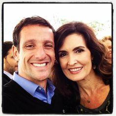 """#Encontro500: A jornalista e apresentadora, Fátima Bernardes e o @julianobelletti"""