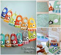 DIY Adorable Monster Bibs | DIY Cozy Home