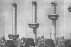 construction of observation tower Euromast in Rotterdam, the Netherlands designed by Hugh Maaskant Rotterdam Architecture, Paradise On Earth, Most Beautiful Cities, Old Pictures, Holland, Amsterdam, Dutch, City, Building
