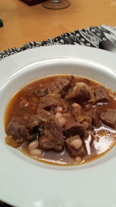 """So what are you making for dinner?"": Beef Stew with Cannellini Beans and Sage"