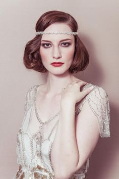 Bridal wedding ribbon headband  'Greta' rhinestone by dcbouquets, $140.00
