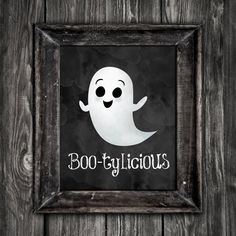 Boo Tylicious 8x10 Digital Printable Poster Funny Happy Halloween Ghost Saying  Boo Pun Bootylicious Puns Ghosts Spooky Scary October Punny