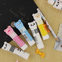 4 Colors Cartoon Solid Glue Stick Mucilage Desktop Student Stationery Office School Supplies 1pcs