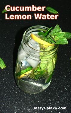 Cucumber Lemon Water Recipe, delicious and refreshing healthy drink. Ready in 5 minutes, click for the easy cucumber lemon mint water recipe #cucumber #water Best Non Alcoholic Drinks, Drinks Alcohol Recipes, Water Recipes, Yummy Drinks, Healthy Drinks, Drink Recipes, Healthy Recipes, Simple Recipes, Healthy Options