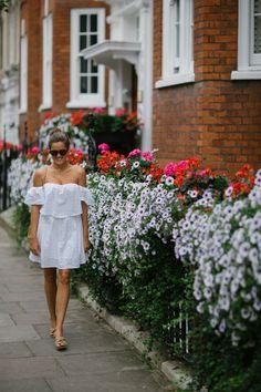 Little white dress in London