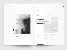 Editorial · Presencias invisibles on Behance Magazine Layout Design, Book Design Layout, Print Layout, Graphic Design Layouts, Essay Layout, Booklet Layout, Booklet Design, Editorial Design, Editorial Layout