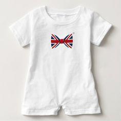 0b4479601776 Baby Romper - Union Jack Bow Tie - baby gifts giftidea diy unique cute Union  Jack