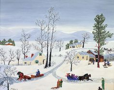 Dividing of the Ways, Anna Mary Robertson (Grandma) Moses - Self-Taught Genius