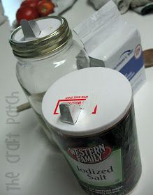 The Craft Patch: Convert Old Mason Jars into a way to store anything that needs to be poured out... like coffee
